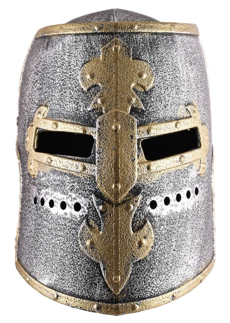 Children Knight S Great Helm With Hinged Visor Plastic